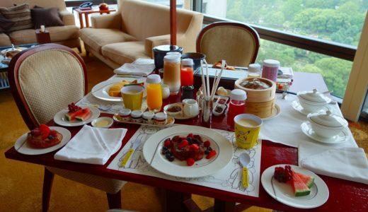 【ザ・ペニンシュラ東京】朝食はルームサービスで!ペニンシュラブレックファスト、和食、中華、子供メニューと種類豊富!